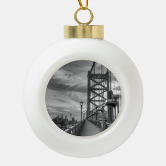 Philly from the bridge ceramic ball decoration
