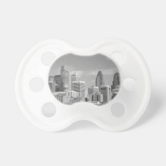 Philly skyscrapers black and white pacifiers