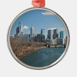 Philly winter Silver-Colored round decoration