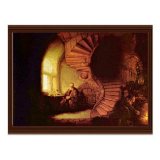 Philosopher In Meditation. By Rembrandt Van Rijn Postcard
