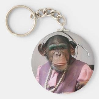 phone monkey basic round button key ring