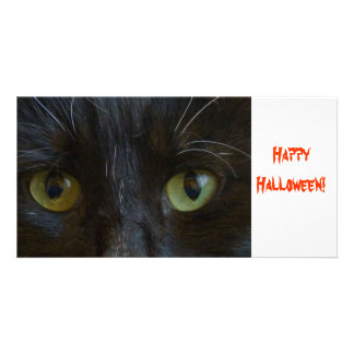 Photo Card: Black Cat Eyes Picture Card