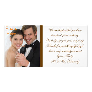 Photo Inserts Cards - Wedding Thank You Customised Photo Card