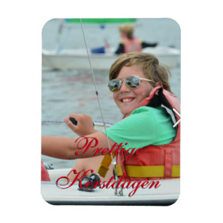 Photograph magnet with Christmas wish