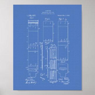 Photographic Roll Film 1915 Patent Art Blueprint Poster