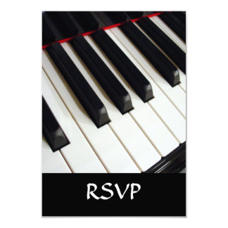 Piano Keys Photograph 9 Cm X 13 Cm Invitation Card