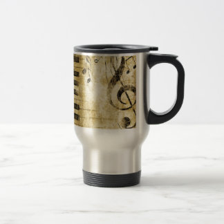 Piano Music Notes Stainless Steel Travel Mug