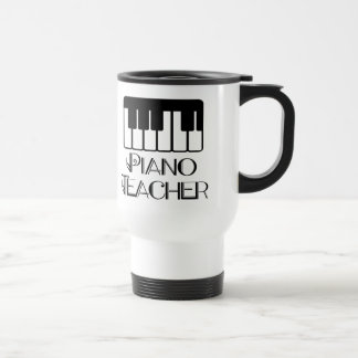 Piano Teacher Keyboard Music Stainless Steel Travel Mug