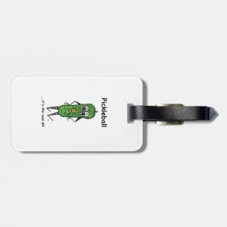 Pickleball luggage tag