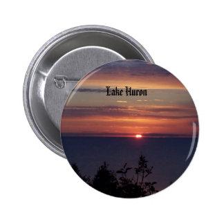 pics 154, Lake Huron 6 Cm Round Badge