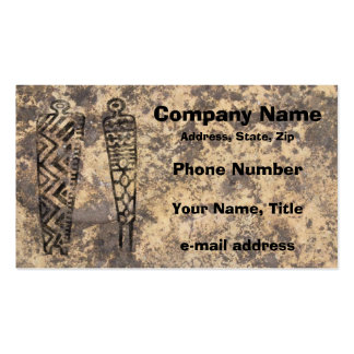Pictograph Men - stone Pack Of Standard Business Cards
