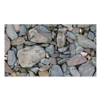 Picture of stones on a beach. pack of standard business cards