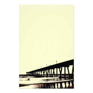Pier and Surf in (mostly) Black and White Stationery