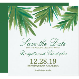 Pine Woods Watercolor   Save the Date 13 Cm X 13 Cm Square Invitation Card