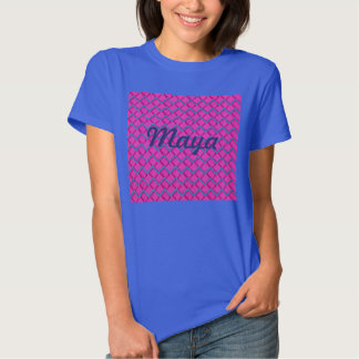 Pink and Blue Paper Zig Zag T Shirts