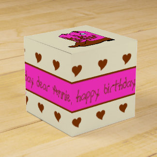 Pink and Brown Cowgirl Birthday Party Favor Box Party Favour Box