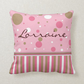 Pink and Brown Pillow Customize Cushion