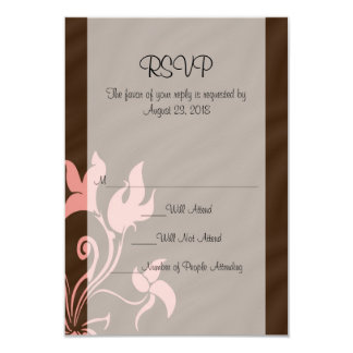 Pink and Brown Swirl Make-Up Artist or Salon 9 Cm X 13 Cm Invitation Card