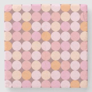 Pink and Orange Polka Dots Stone Coaster