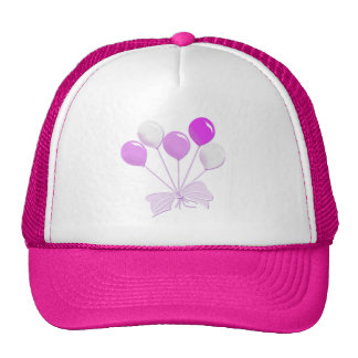Pink and White Balloons Cap