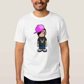 Pink apple boy in monley costume (emo style) tee shirt