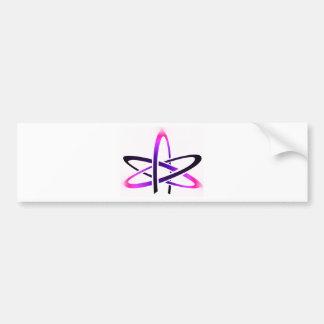 Pink Atheist Symbol Bumper Sticker