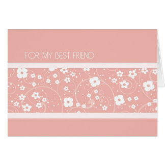 Pink  Best Friend Thank You Maid of Honor Card