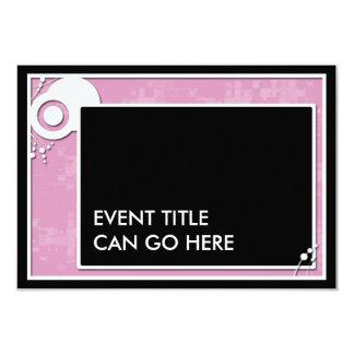 pink block scheme 9 cm x 13 cm invitation card