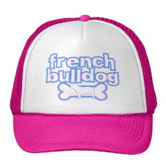 Pink & Blue French Bulldog Cap