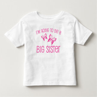 Pink Butterfly Big Sister to Be Tee Shirt