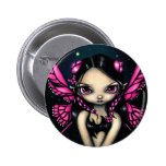 """""""Pink Butterfly Fairy"""" Button"""