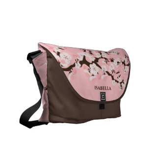 Pink Cherry Blossom Commuter Bag