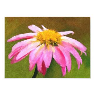 Pink Daisy 5x7 Mini Prints 13 Cm X 18 Cm Invitation Card