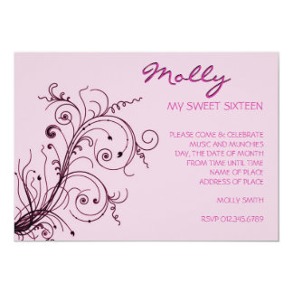 Pink Explosion 13 Cm X 18 Cm Invitation Card