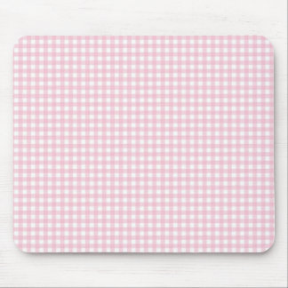 Pink Gingham Plaid Mouse Pad