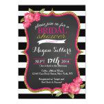 Pink Gold Black White Bridal Shower Invitation