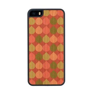 Pink Green Geometric Ikat Teardrop Circles Pattern Wood iPhone SE/5/5s Case