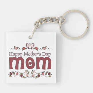 Pink Hearts Mother's Day Keychain