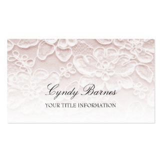 Pink Lace Business Card