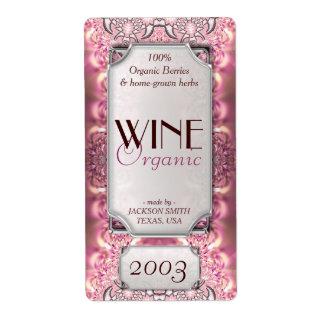 Pink Ladies Dreamy Custom Text Wine Bottle Labels
