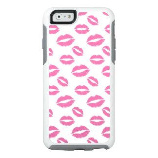Pink Lips Kiss Pattern OtterBox iPhone 6/6s Case