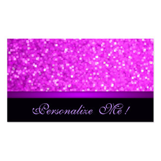 Pink Modern Purple Girly Sparkle Glitter Elegant Pack Of Standard Business Cards