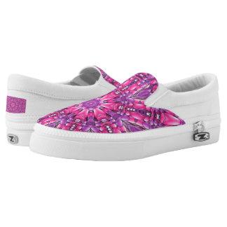 Pink n Purple Zipz US Men & Women Printed Shoes