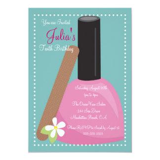 Pink Nail Polish Birthday Invite