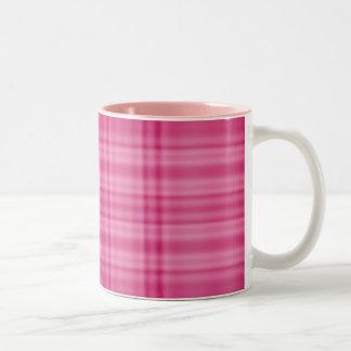 Pink Plaid Two-Tone Mug
