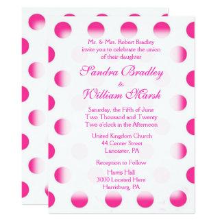 Pink Polka Dot Wedding 17 Cm X 22 Cm Invitation Card