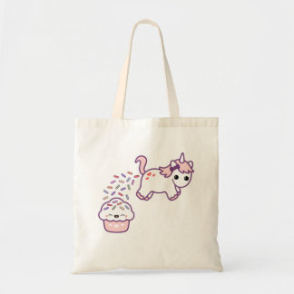 Pink Pooping Unicorn Budget Tote Bag