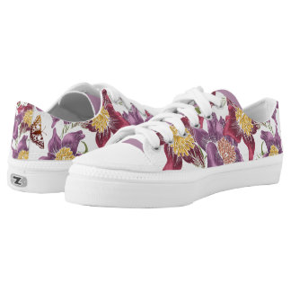 pink purple flower print shoes printed shoes