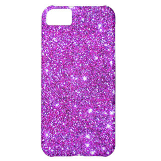 Pink Purple Sparkly Glam Glitter Designer iPhone 5C Case