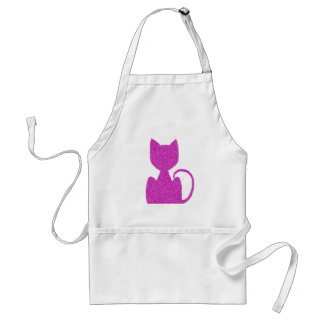 Pink Puzzled Cat Aprons